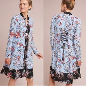 Anthropologie Maeve Leyster Floral Shirt Dress